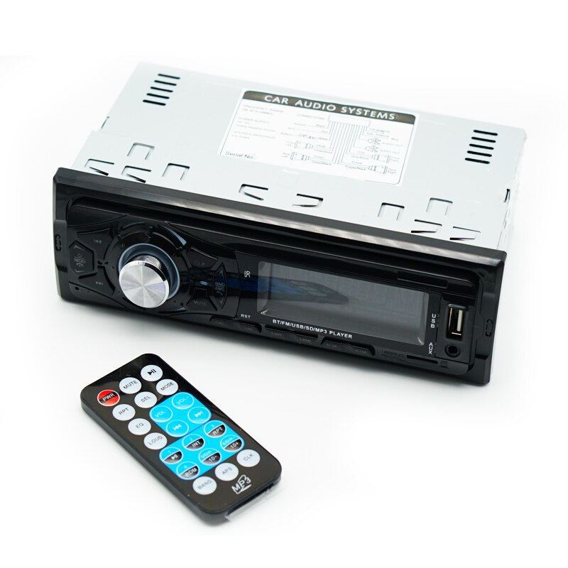 Radio MP3 player auto cu bluetooth, USB, microSD, AUX, 4x60W si telecomanda