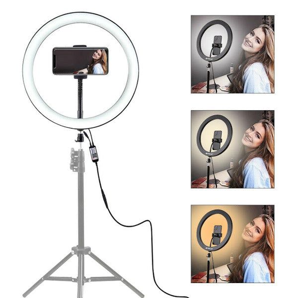 Lampa circulara cu trepied Selfie Ring Light cu LED, 60W