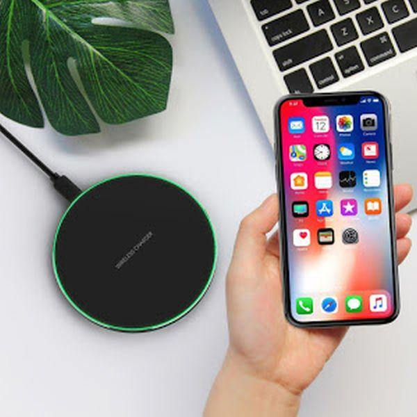 Incarcator Wireless Fast Charging Pad QI, Round Black - Tenq.ro