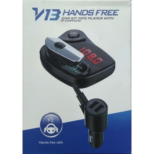 Car Kit Bluetooth V13 MP3 Player, Earphone Handsfree