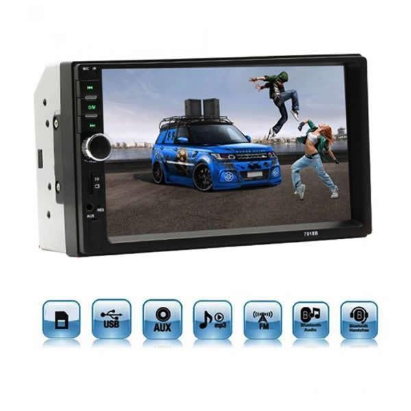 Player Auto MP5 Cu Display Touchscreen 7 Inch, Bluetooth, Slot USB Si MicroSD - Tenq.ro