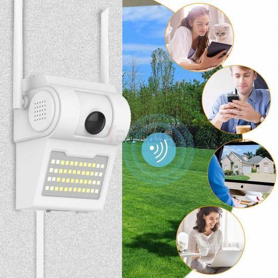 Camera video de supraveghere IP Wireless cu lampa 32 LED - Tenq.ro