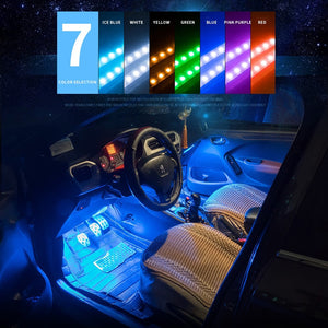 Set 4 Stripes 48 LED for Cars With Music Sensor