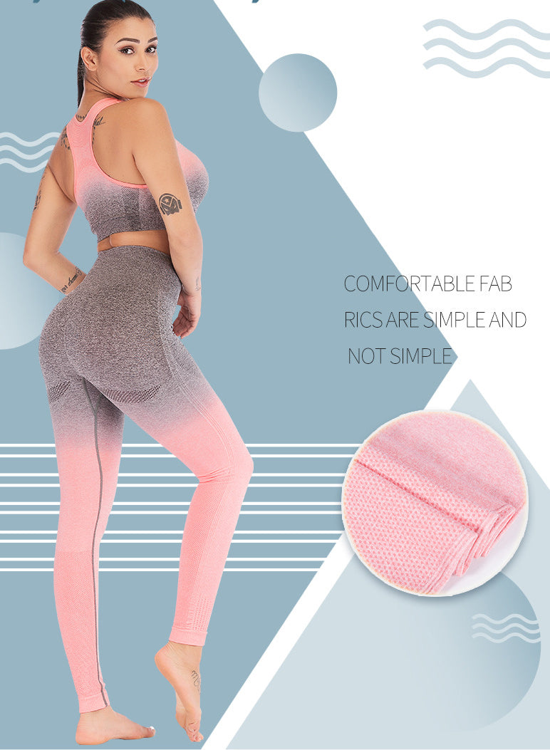Web Celeb Gradient Color High Waist Yoga Leggings