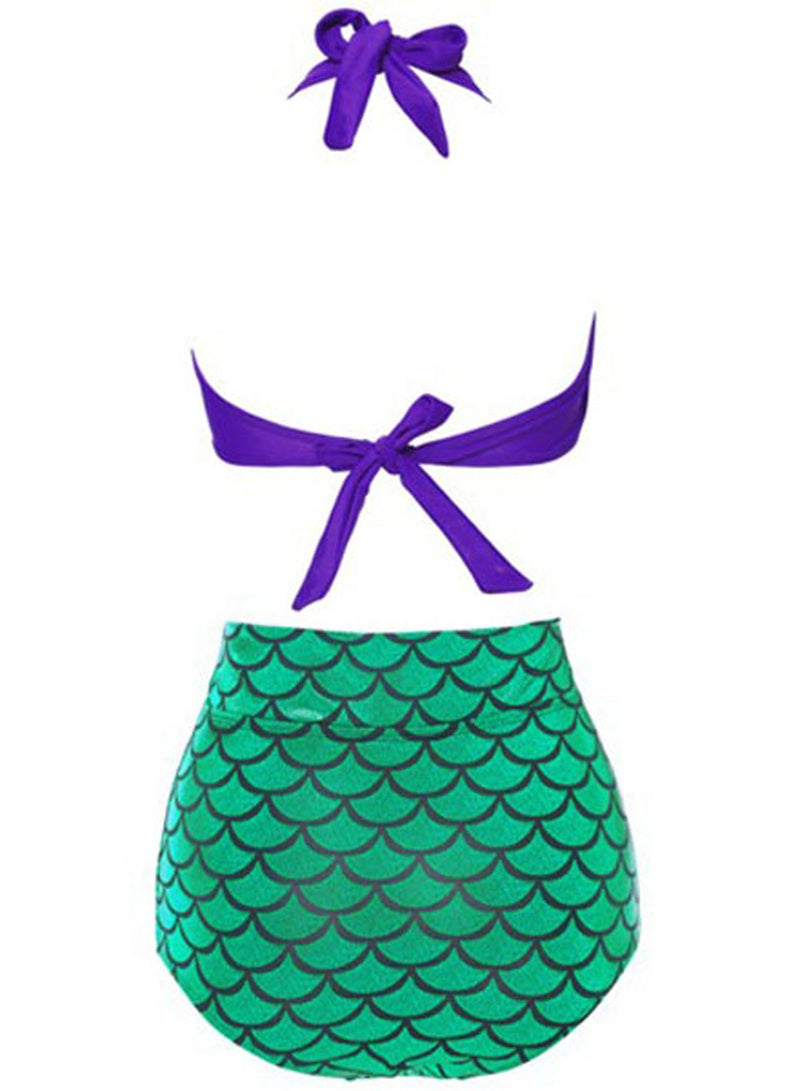 Women's Pretty Mermaid Two Piece High Waist Swimsuit