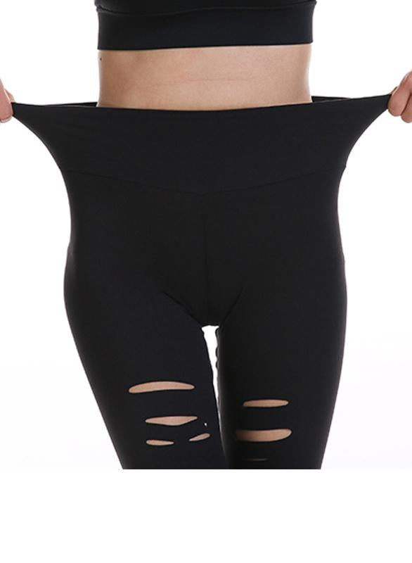 Hole Tight Sports Pants Stretch Yoga Leggings