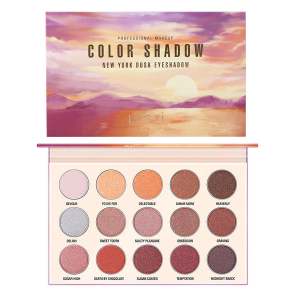 15 Colors New York Dusk Eyeshadow Palette