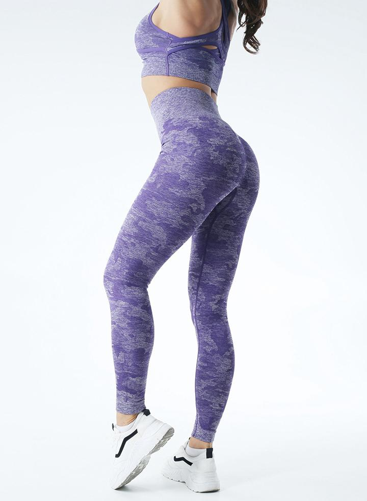 Camouflage Tight Stretch Yoga Leggings Exercise Pants