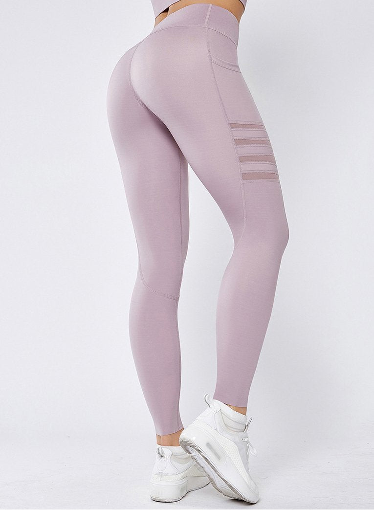 Fitness Pants High-waist Yoga Leggings with Pockets