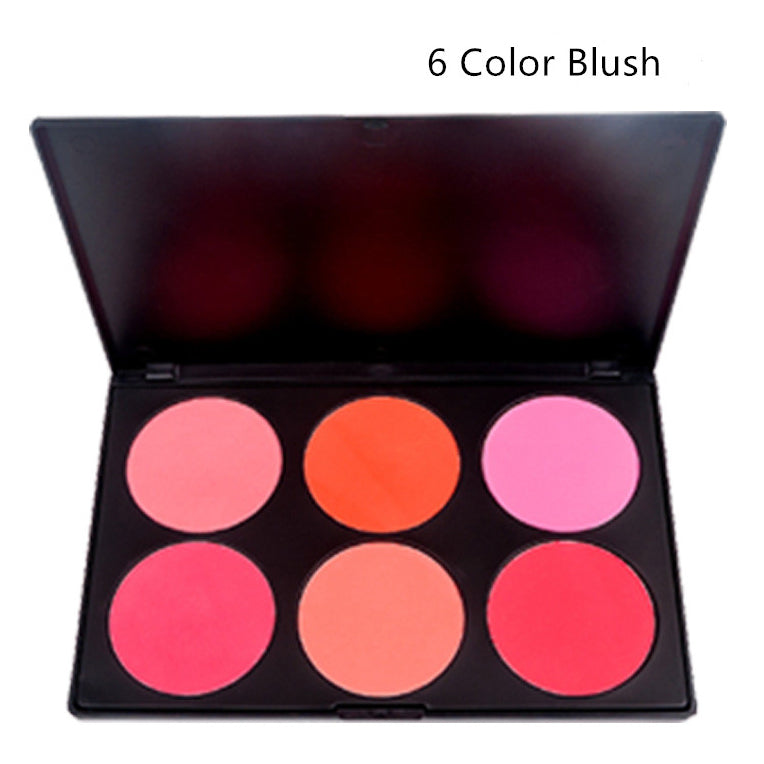 6 Color Blush Powder Highlighter Contour Palette