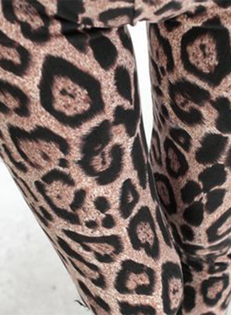 Women's Elastic Waist Leopard Printed Leggings