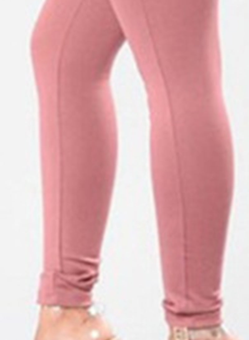 Women's High Waist Solid Color Lace Up Leggings
