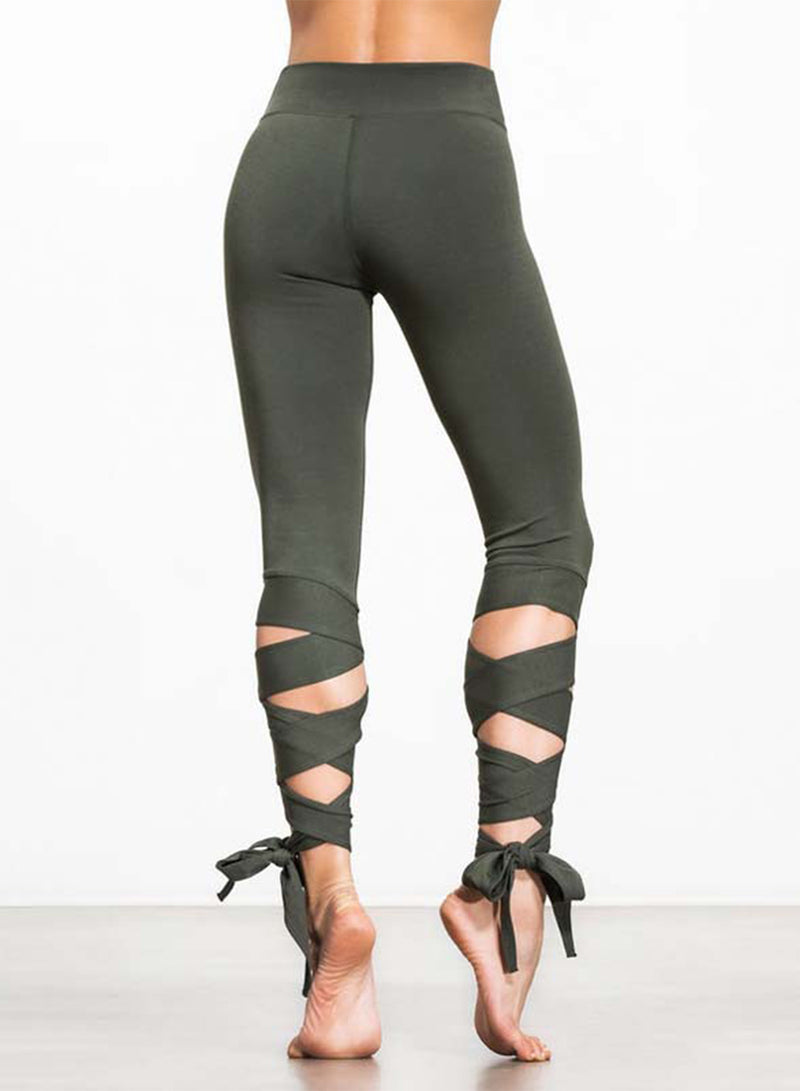 Women's Fashion Cropped Bandage Leggings