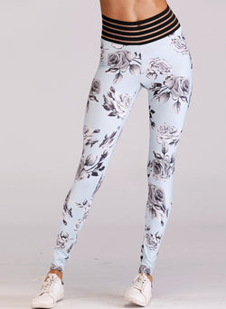 Women's Floral Printed Skinny Yoga Sports Leggings