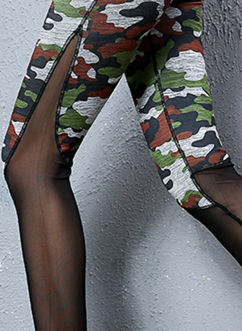 Women's Camouflage Plus Size Sports Leggings
