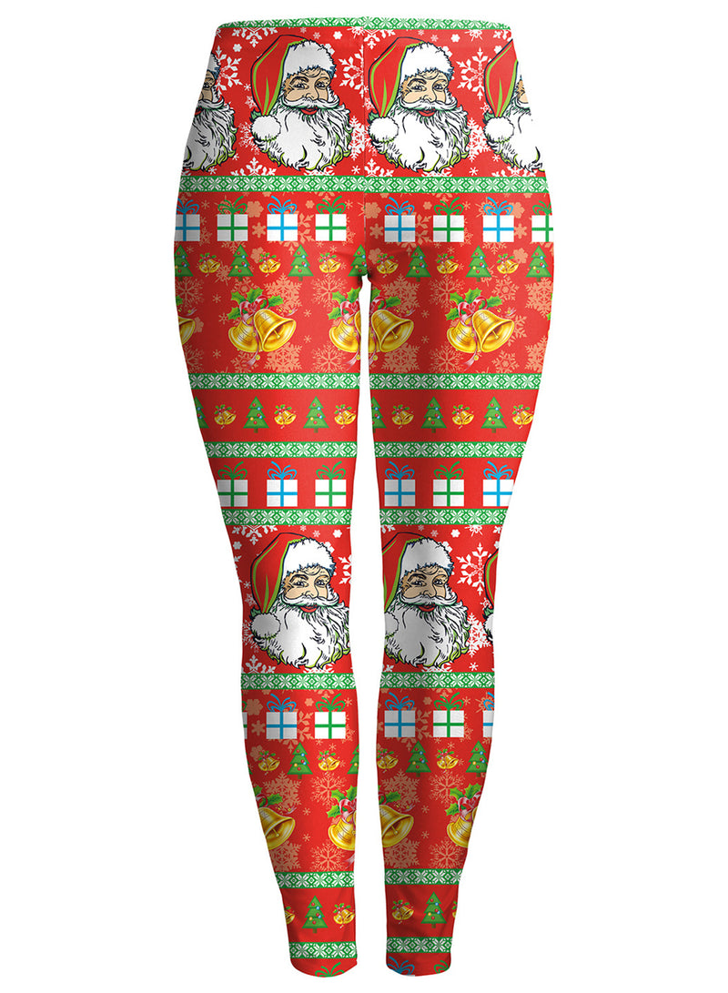 Women Christmas High Waist 3D Printed Yoga Sports Leggings
