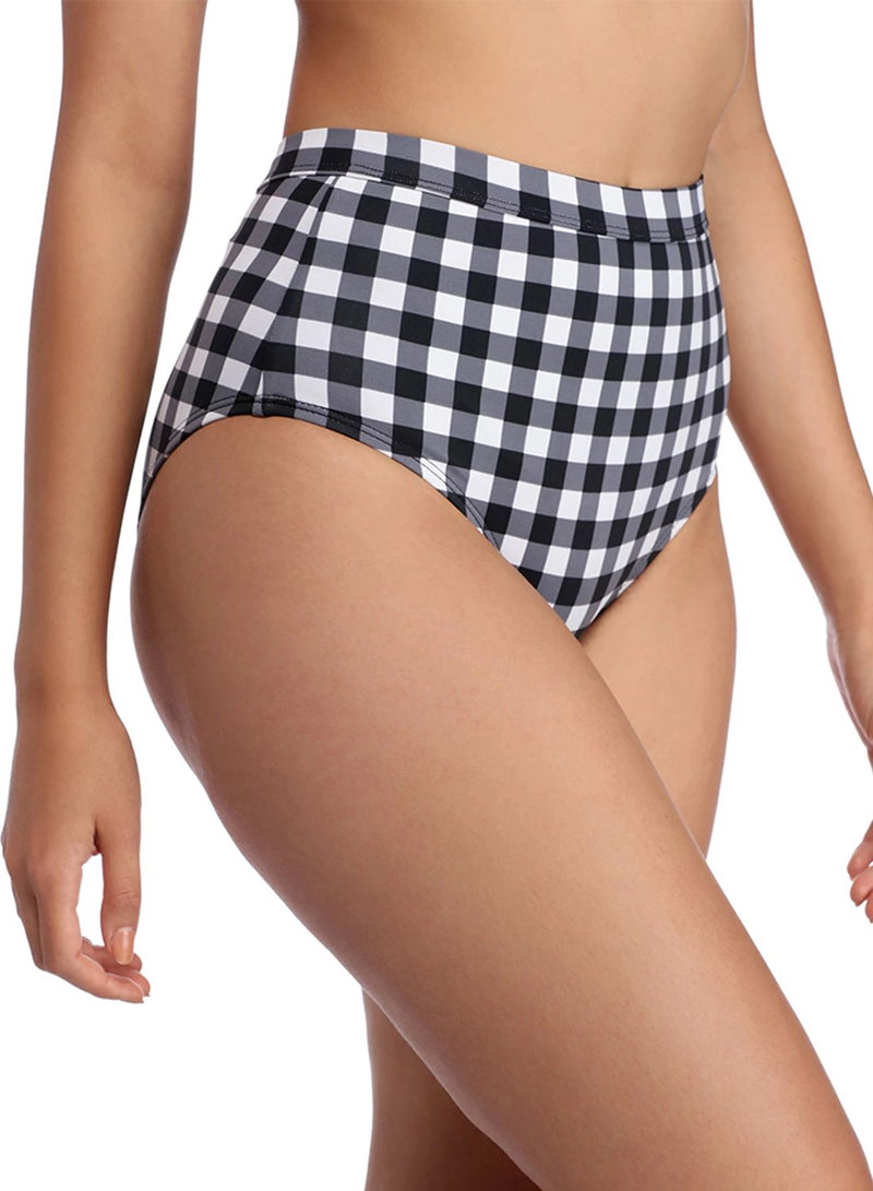 Plaid High Waist Bikini Two Piece Swimsuits