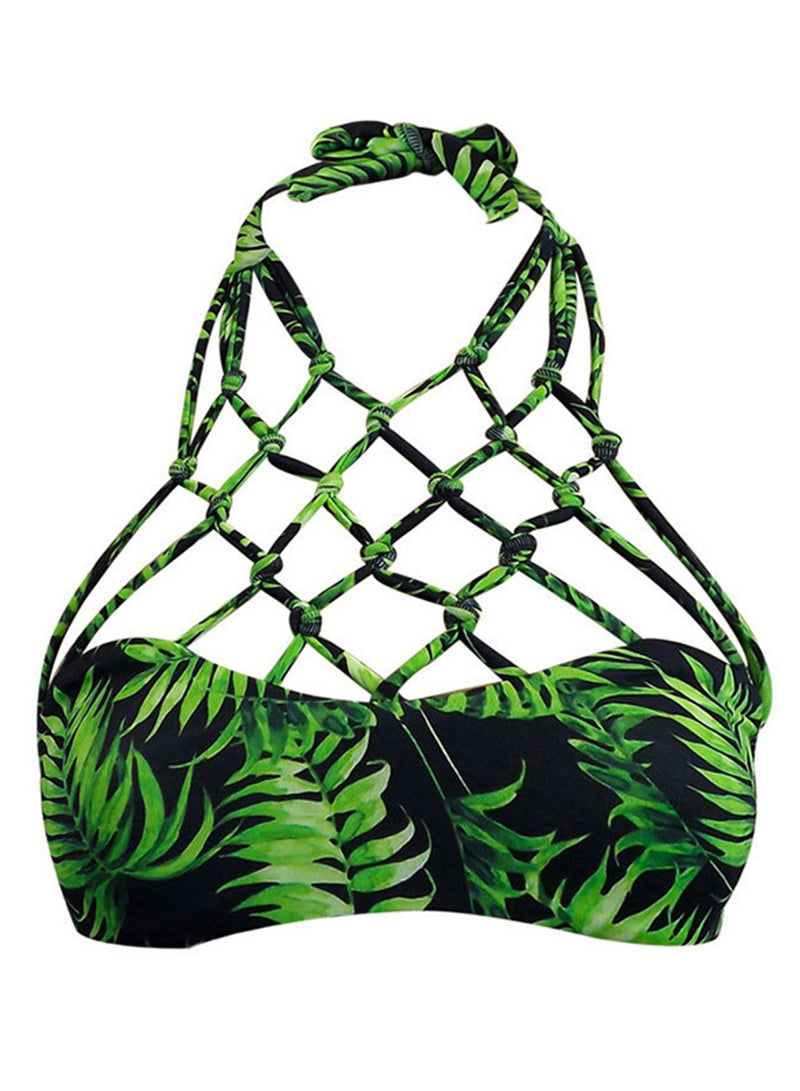 Sexy Mesh Triangle Bikini Set Two Piece Swimsuit