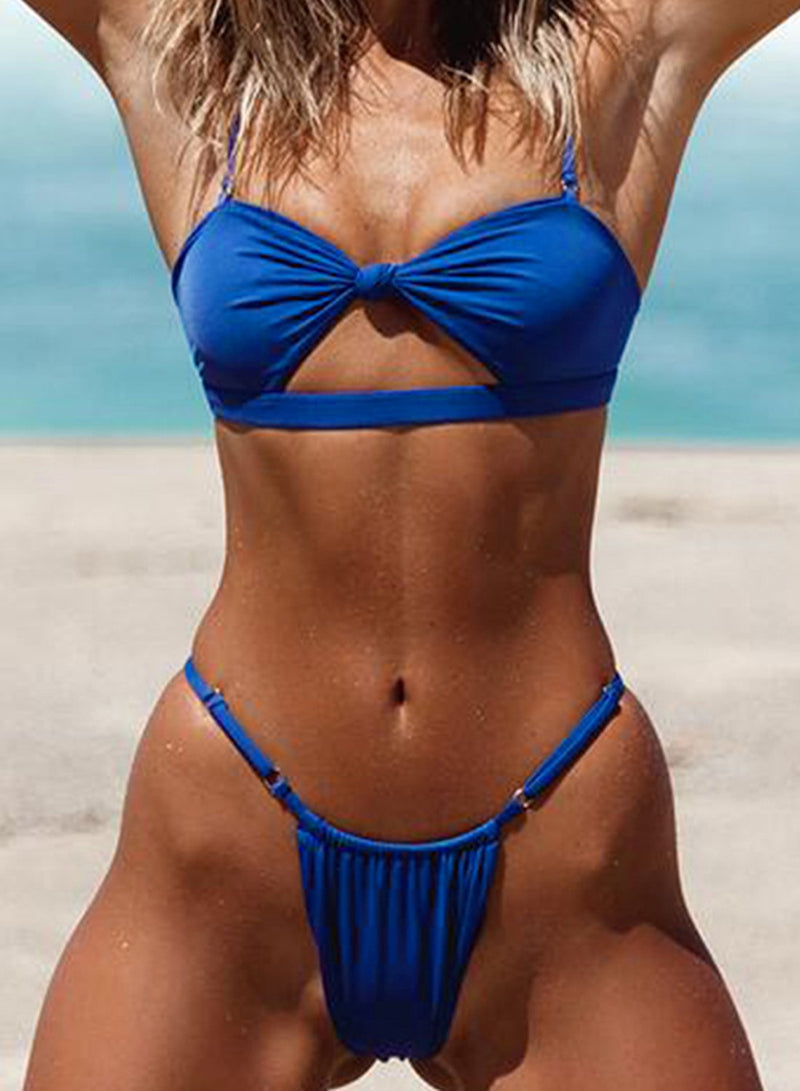 Knotted Bandage Bikini Two-piece Swimsuit