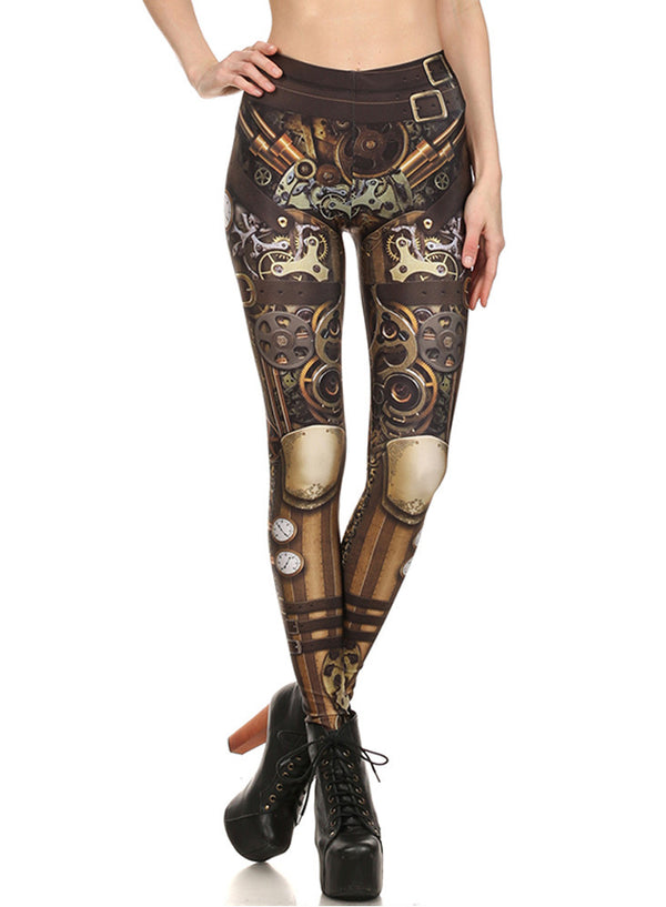 Women's Fashion Machine Printed Skinny Leggings
