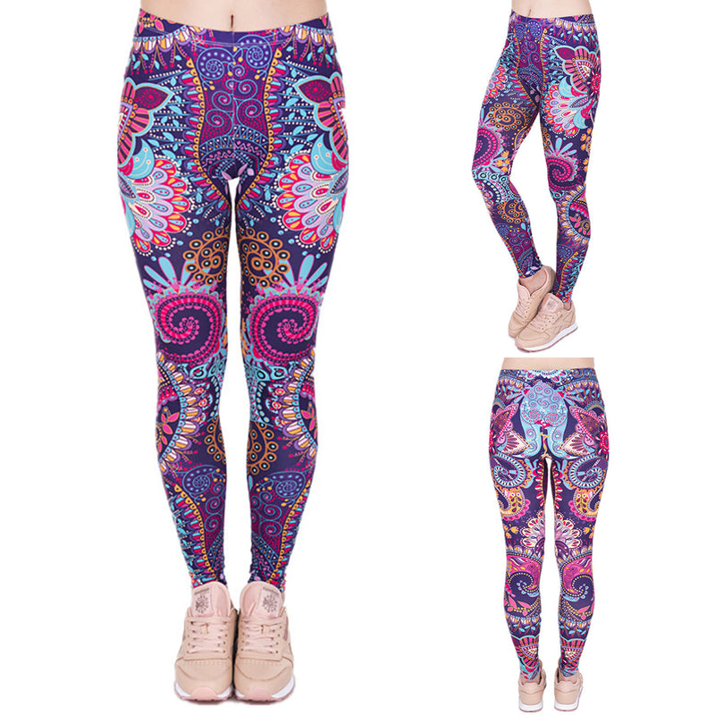 Women 3D Digital Print Sports Exercise Leggings