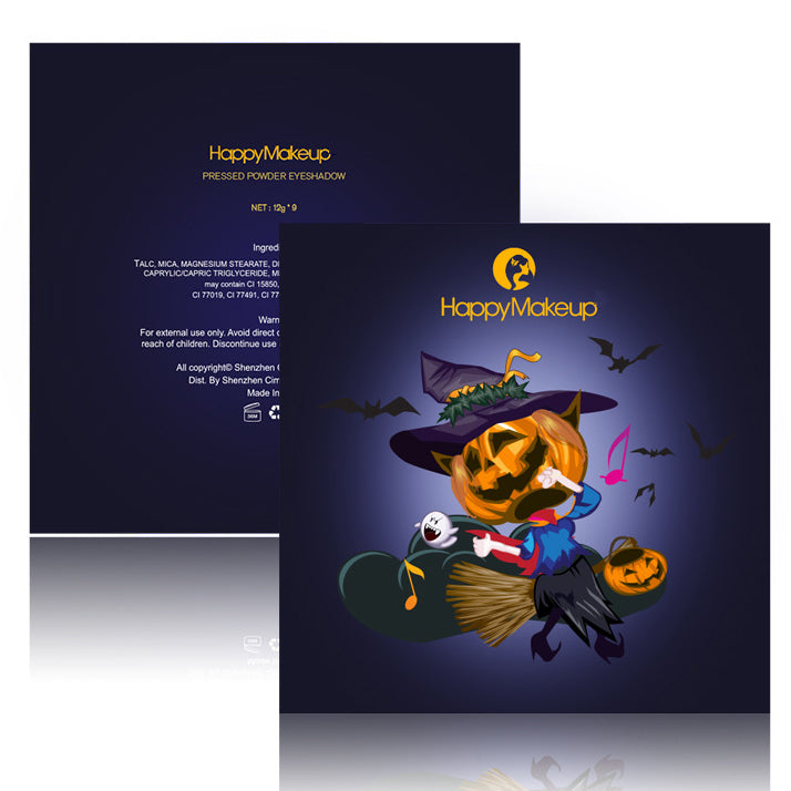 9 Colors Halloween Eyeshadow Palette