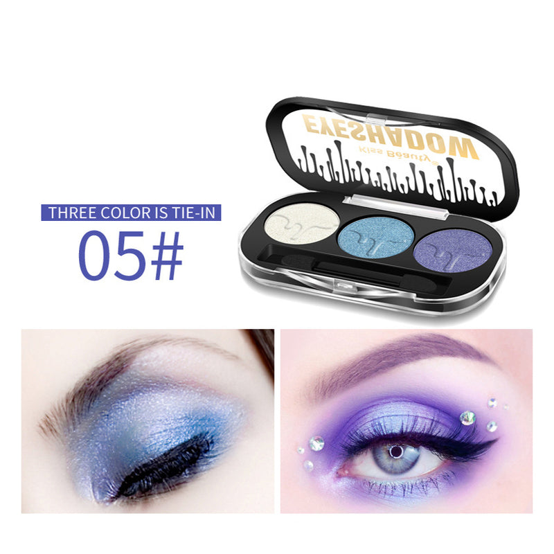3 Colors Matte Pearl Eyeshadow Palette