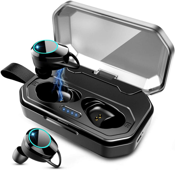 Bluetooth 5.0 TWS Wireless Earbuds, IPX7 Waterproof Headphones in-Ear Earphones