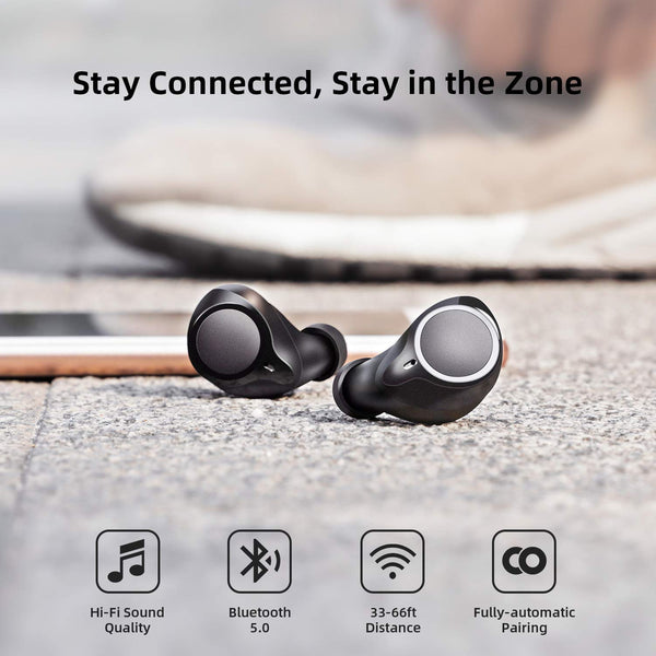 Bluetooth 5.0 Wireless Headphones Future Plus Wireless Earbuds 104 Cycle Playing Time