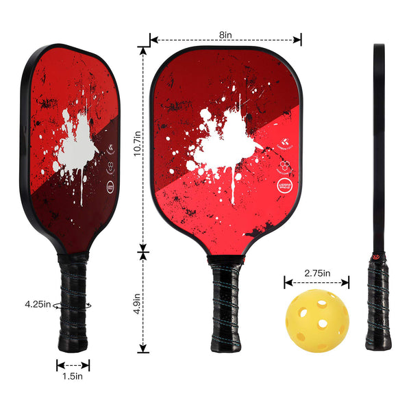 Lightweight Graphite Honeycomb Composite Core Pickleball Paddle