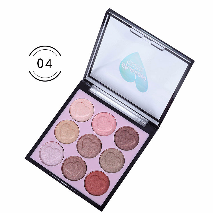 9 Colors Heart Eyeshadow Palette