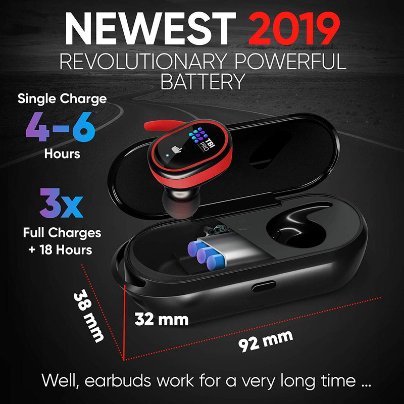 Upgraded True Wireless Earbuds-30 Hours Total with Strong Bluetooth 5.0