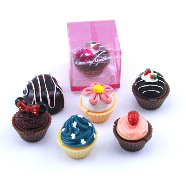 6 PCs Cupcake Lip Gloss Set