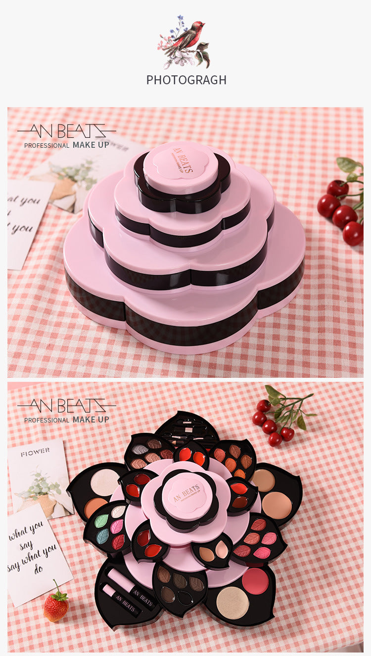 Rotary Lotus Petal Cosmetic Box Set