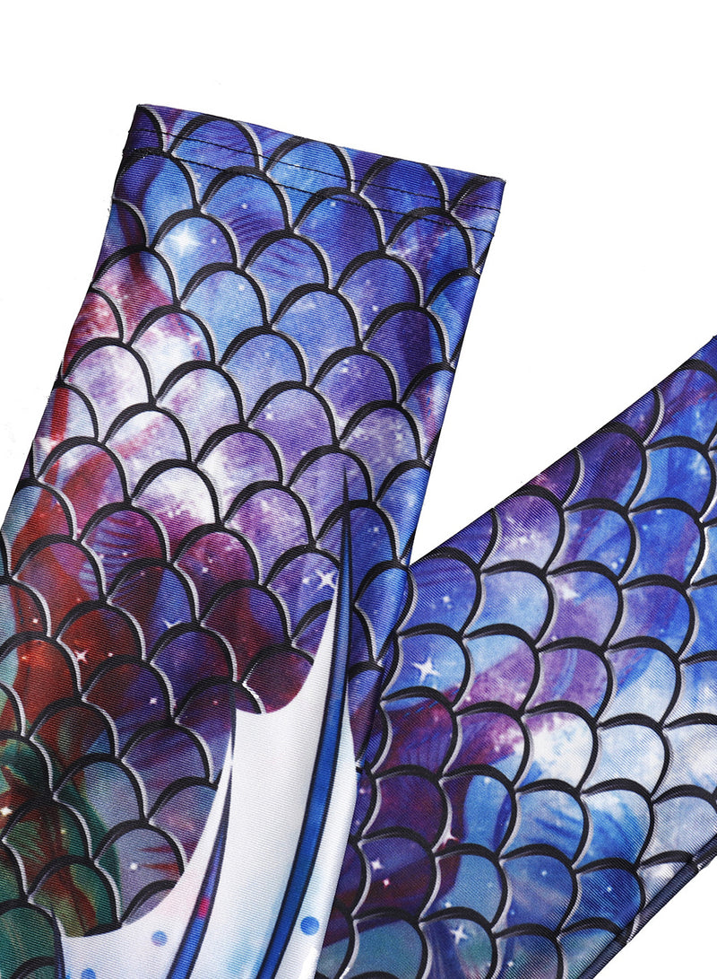 Women's 3D Mermaid Scales Printed Skinny Leggings