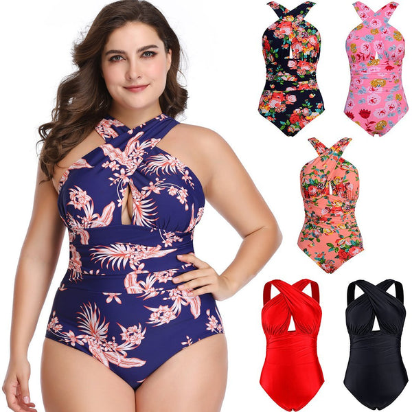 Women Swimsuits One Piece Tummy Control Front Cross Backless Bathing Suit