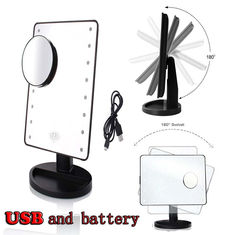 22 Led Lighted Cosmetic Mirror