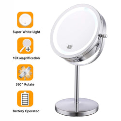 Lighted Makeup Mirror.7 Inch Led Lighted Makeup Mirror