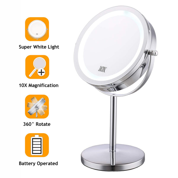 7 Inch Led Lighted Makeup Mirror