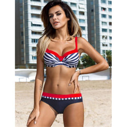 Candy Colors Swimsuits Bathing Suit Push Up Bikini Set Swimwear