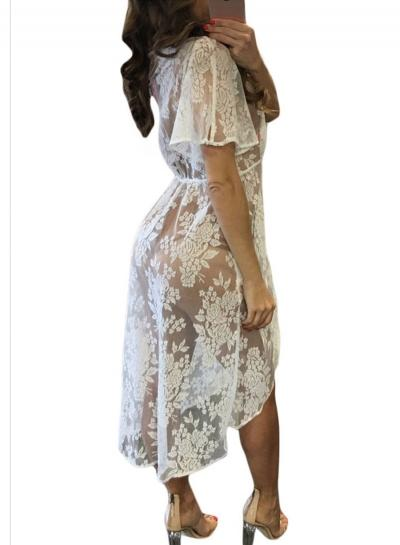 Women's Fashion Floral Lace Bikini Cover ups