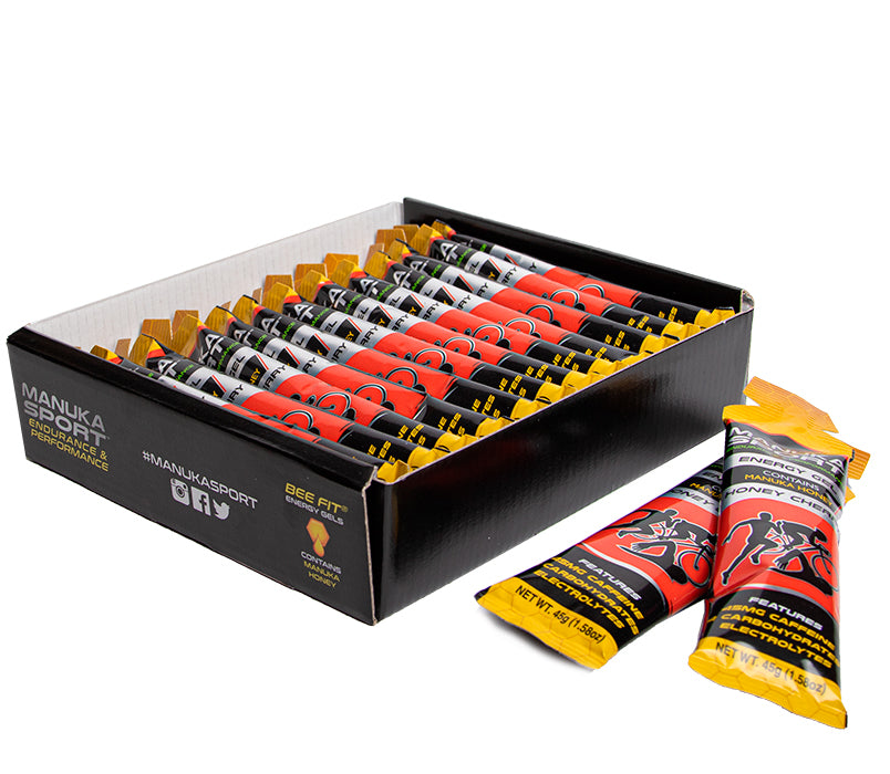 MANUKA SPORT Energy Gel Honey Cherry 12x45g - ManukaSport