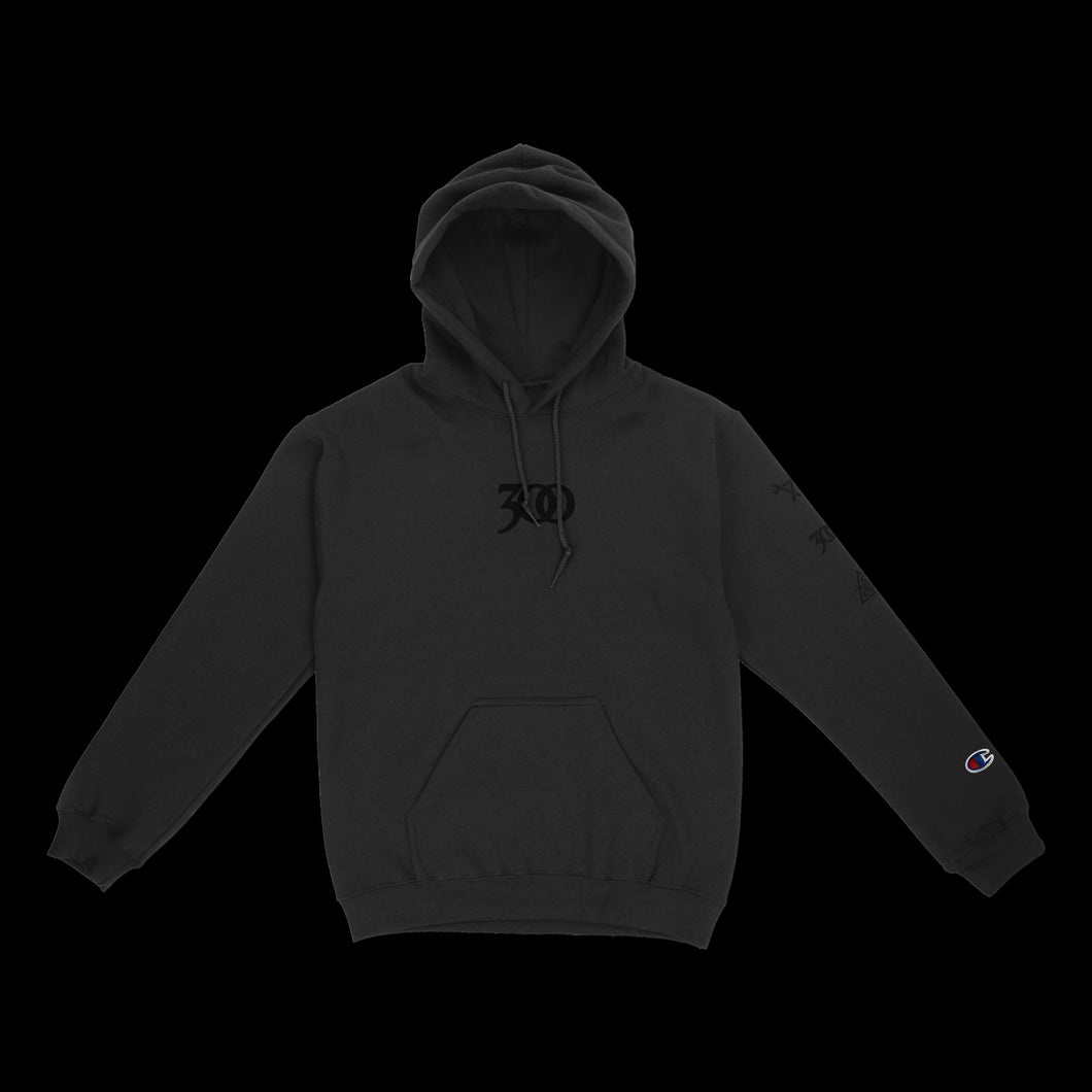 BLACK 300 REFLECTIVE REVERSE WEAVE CHAMPION® HOODIE
