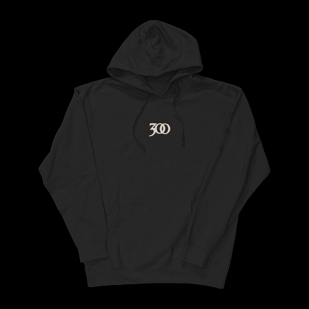 BLACK 300 GLOW-IN-THE-DARK HOODIE
