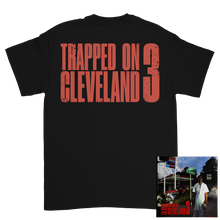 Load image into Gallery viewer, Trapped on Cleveland 3 Black Tee + Digital Album