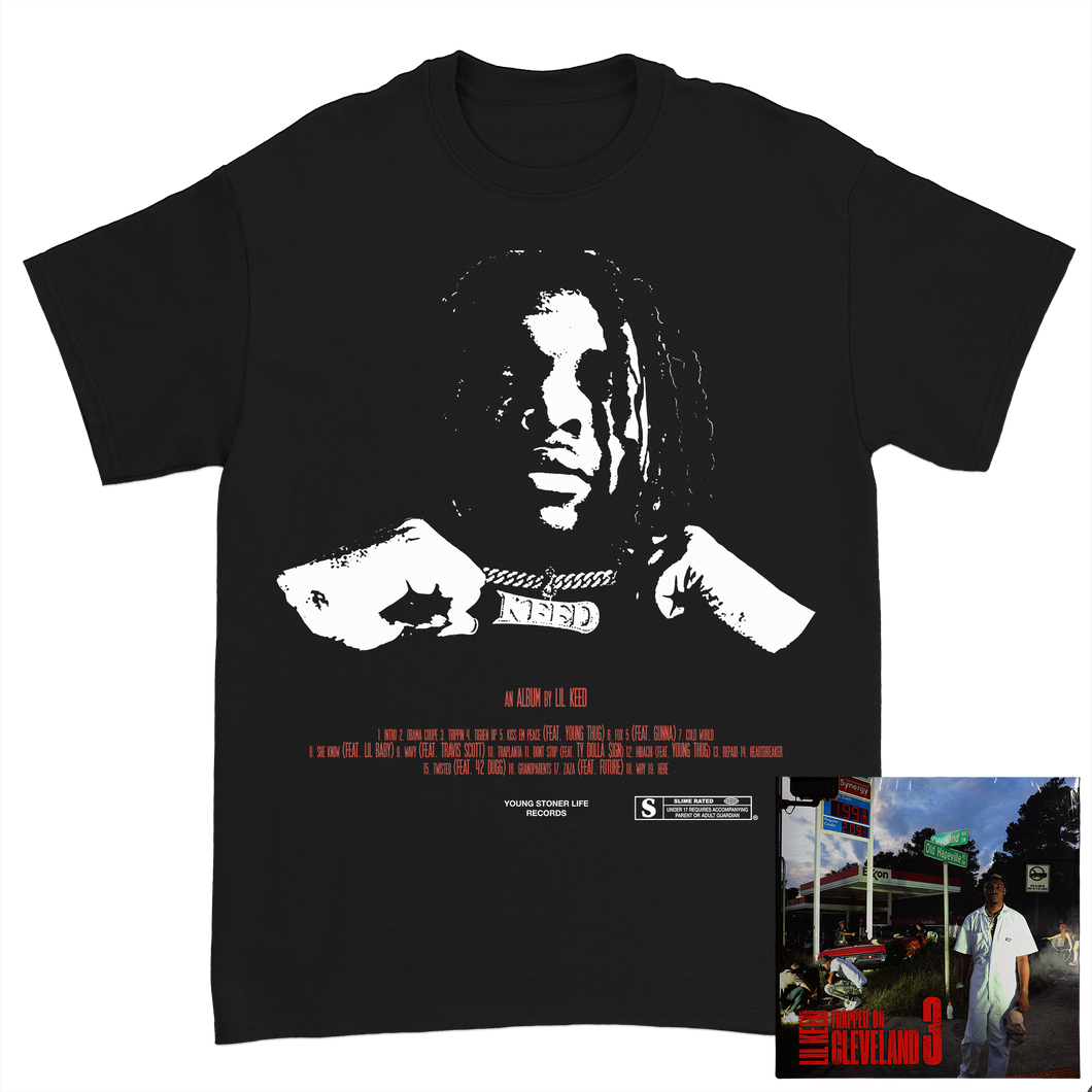 Trapped on Cleveland 3 Black Tee + Digital Album