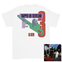 Load image into Gallery viewer, Trapped on Cleveland 3 White Tee + Digital Album