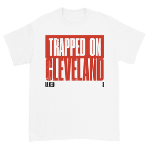 Trapped on Cleveland 3 White Tee