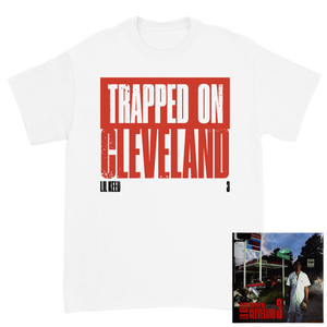 Trapped on Cleveland 3 White Tee + Digital Album