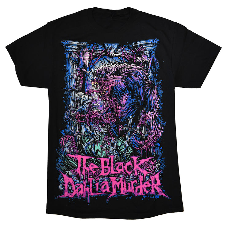 The Black Dahlia murder Wolfman T-shirt printed on standard tees. The best melodic death metal shirt you could have!
